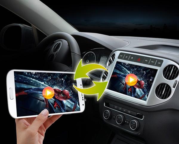 Central Multimídia fazendo espelhamento com o celular - Filme